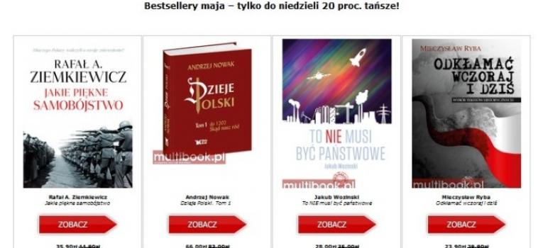 Majowe TOP 10 księgarni Multibook.pl