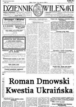 Roman Dmowski – Kwestia Ukraińska