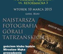 Wtorek, 10 marca godz. 18:00 – Krakowski Klub Wtorkowy