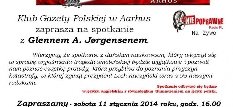 11 Stycznia godz.16:00 – Glenn Jorgensen w Aarhus