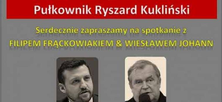 25 maja (niedziela) godz.18:00 spotkanie z Wiesławem Johannem i Filipem Frąckowiakiem