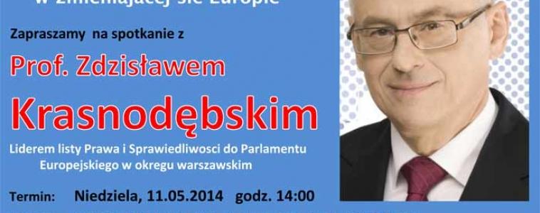 11 maja (niedziela) godz.14:00 Spotkanie z prof.Zdzisławem Krasnodębskim