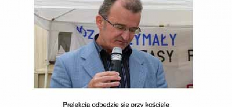 Niedziela (31 sierpnia) godz.18:00 Spotkanie z Piotrem Szubarczykiem