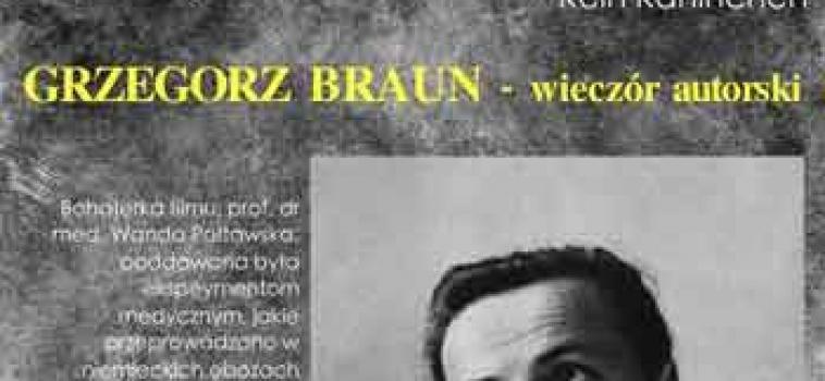 Niedziela ok.godz.21:00 czasu polskiego Grzegorz Braun