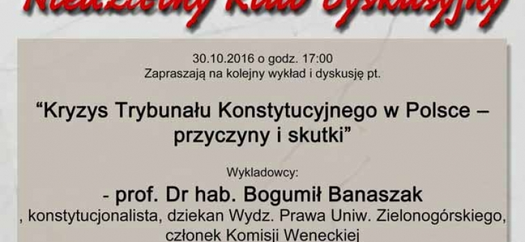 Niedziela, 30 października godz.17:00 Niedzielny Klub Dyskusyjny KGP Berlin